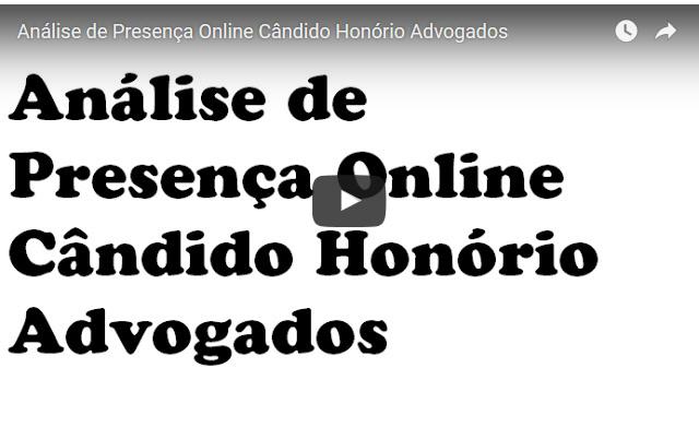 Análise de Presença Online Candido Honorio Advogados